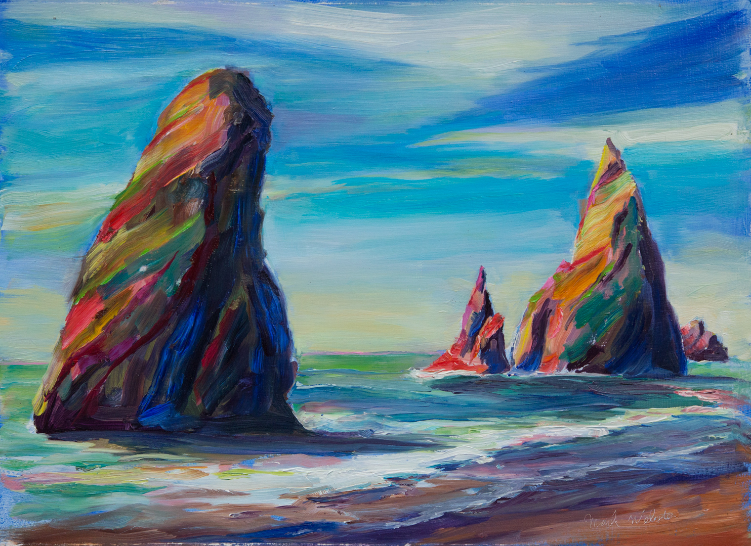 Landscape paintings by mark howard webster for Paintings to copy